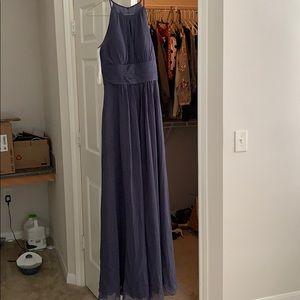 Bridesmaid dress in steel blue